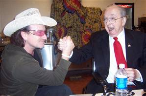 Bono and Jesse Helms